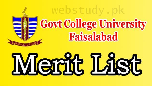 gc university faisalabad merit list 2018