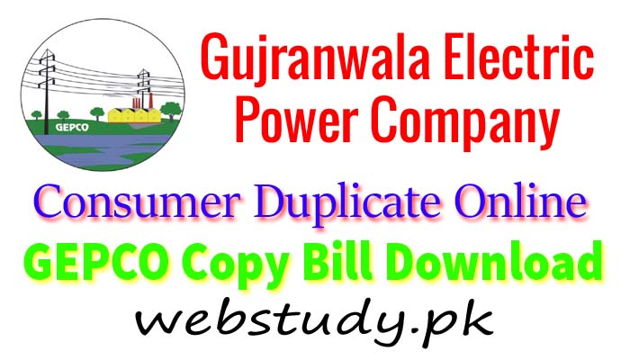 gepco consumer bill online download with reference number