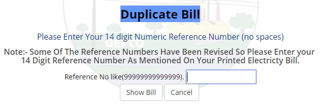 gepco wapda duplicate bill