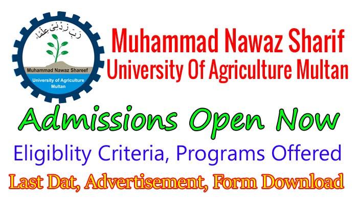 mns university of agriculture multan admission 2018