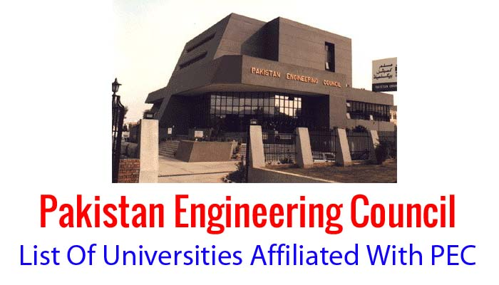 pec recognized engineering Universities in pakistan