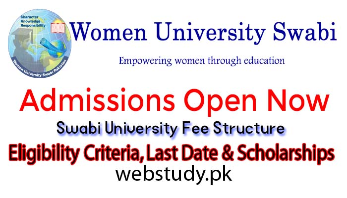 women university swabi admission