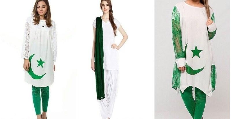 beautiful pakistan flag print shirts for girls
