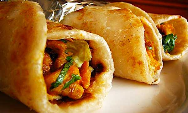 delicious kabab rolls roadside vender in karachi
