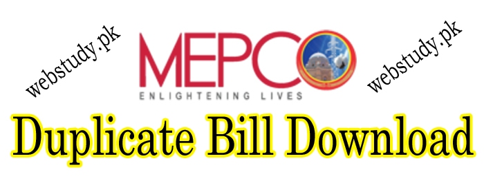 mepco duplicate bill copy download print