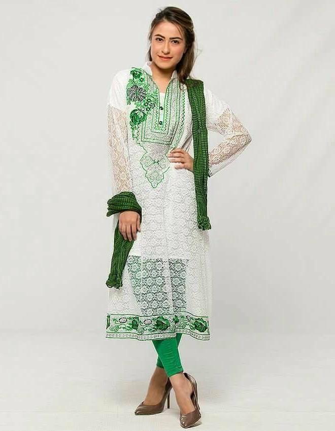 pakistan flag printed dresses for girls