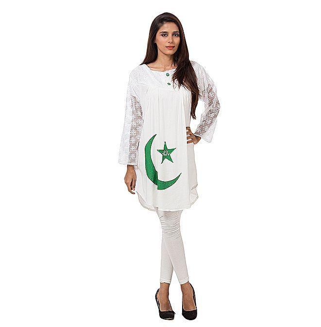 pakistan independence day jashn e azadi frock for girls