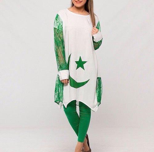 pakistani flag shirts for girls