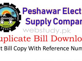 pesco duplicate bill download
