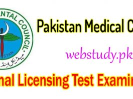 PMDC license examination test details