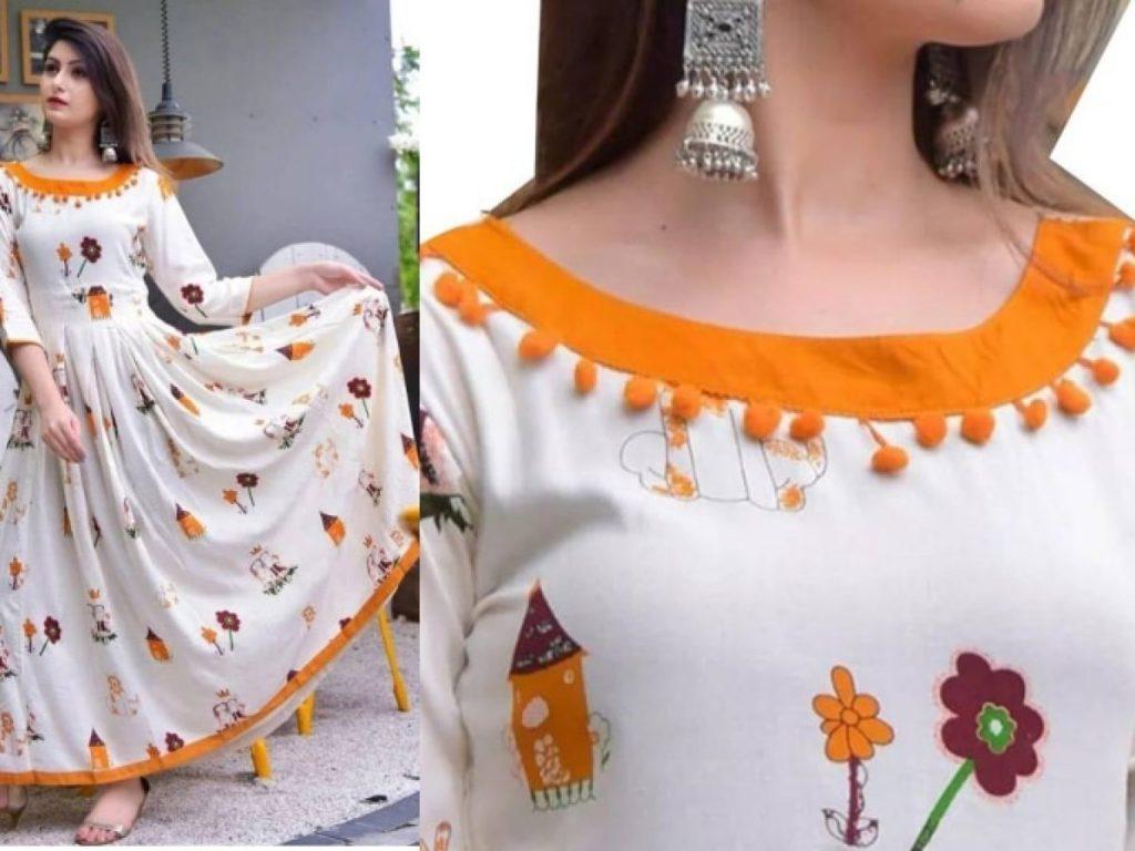 pakistani dress neck style images 2021