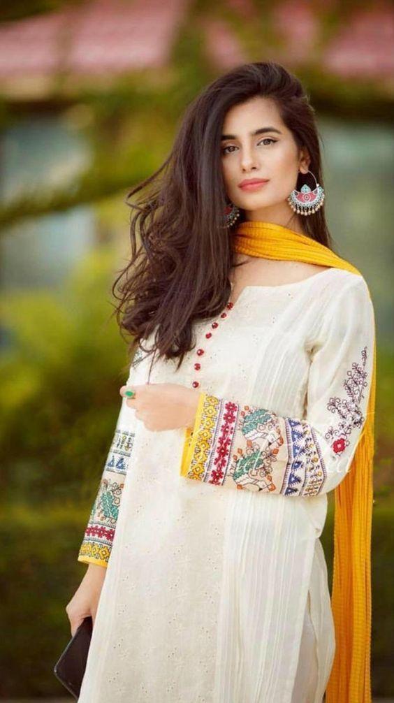 pakistani dresses neck design 2021